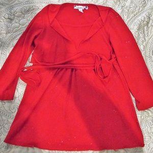 Girl's Speechless Red Dress Shirt Size S